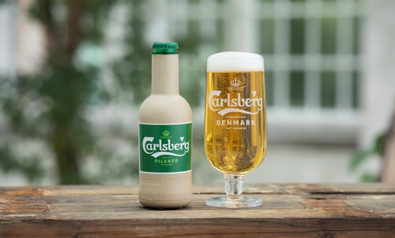 Papirflaske Carlsberg